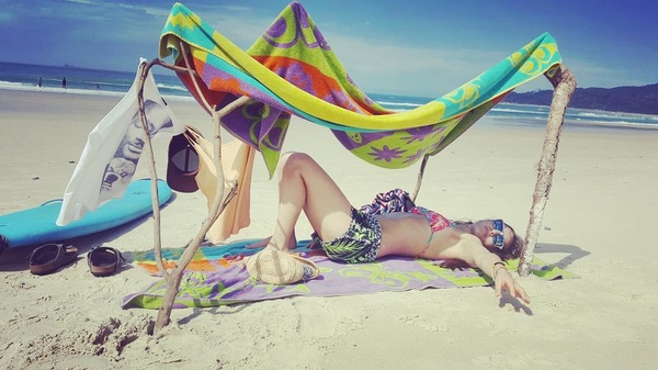 #paradise #byron #bay #byronbay #amazing #stayinghereforever #beach #summer during #winter #sand #sea #australia #love #tanning in my hut