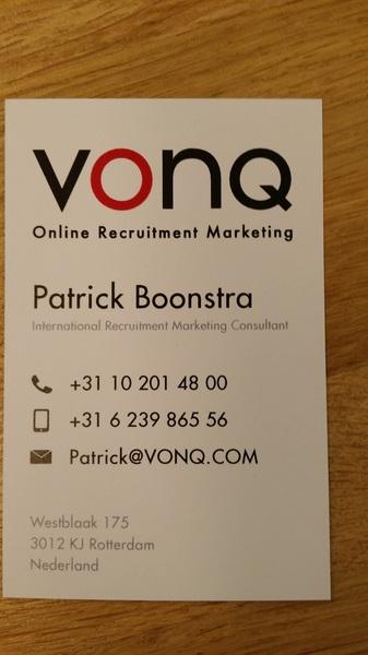 nu echt officieel. #vonq Wie wil er een visitekaartje van me hebben? Pas op: u kunt (on) gevraagd advies er bij krijgen!