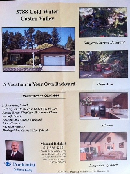 Beautiful Garden Home For Sale in Castro Valley, East Bay, CA