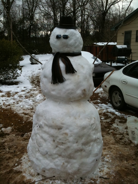 I present to you: FREDDY the Snow Goliath.