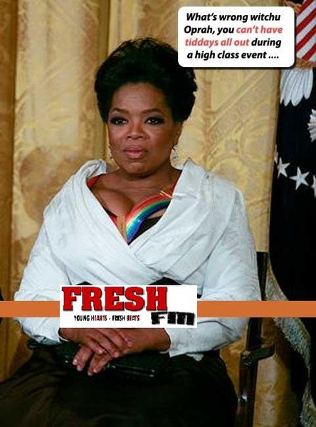 Well oprah's titis were out to play :)