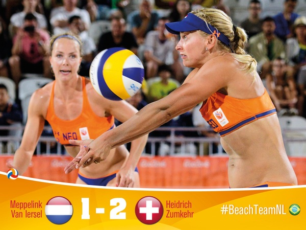 Unfortunately.. we won the first set against the Swiss, but couldn't play we way we wanted in the remainder of the game. Congratulations to Switserland, unfortunately our Olympic Games are over.