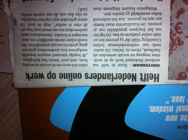 Helft Nederlanders online op werk Metro 22-09-2011 #insites