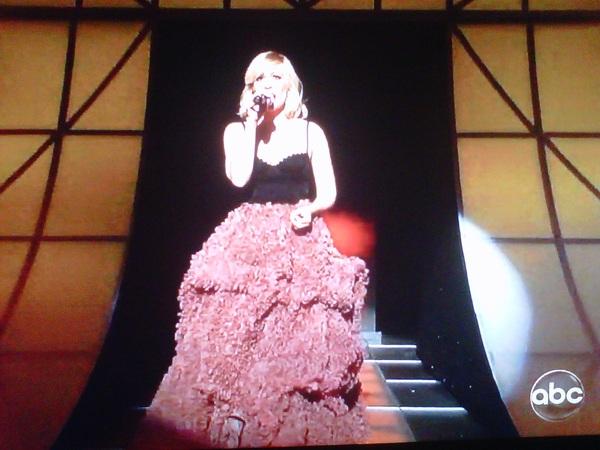 This is why I'm watching the #CMAs - @natashabdnfield wearing @csiriano so well!