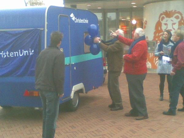 Opnamen voor CU-campagnespot in #Dronten.