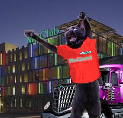 #nipclub thx to @Georgetheduck for da pawsum #WooMeow shirt!
