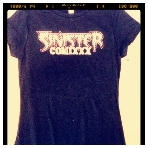 The Sinister Comixxx tees are in! Baby tees for the ladies and men shirts for the men.   @SinisterComixxx