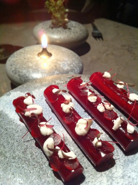 "Geranium resto was 1 of best meals of my life. 13 crses of Mod Nordic Cuisine,incl ""snack"" of beet n appl vin veil"