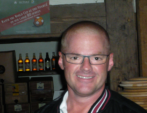 Heston Blumenthal having enjoyed a great evening and amazing Dorset Pizzas at The Stable, Bridport