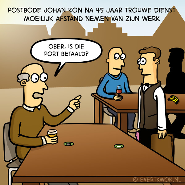 Postbode Johan #cartoon