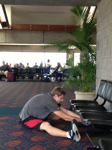 #Travel Bro Tip Pro Tip: Don't let your location stop you from your stretches. Location: http://j.mp/11XxDAD