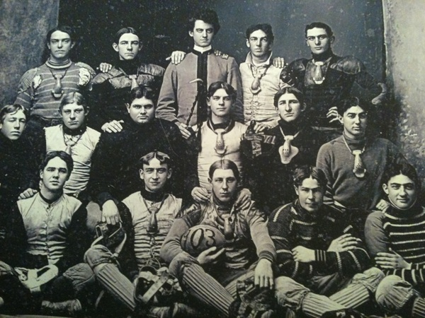Name the Sports Technology in this circa early 1900's football picture? #sportstechnology #history