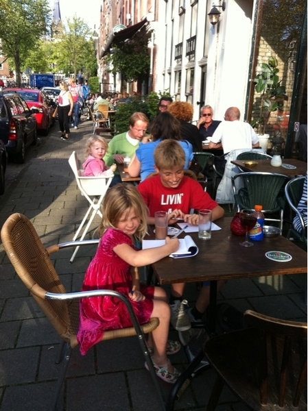 Pizza w/ the kids Lindengracht  #weekend!