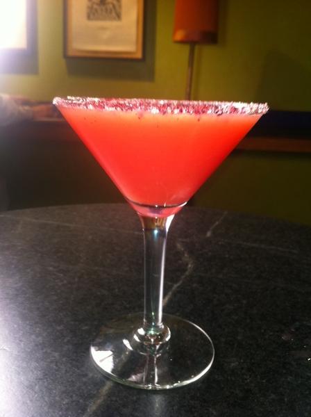 As promised: the blood orange margarita is back on the menu!