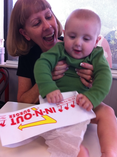 Fletcher of the day: In N Out baby!