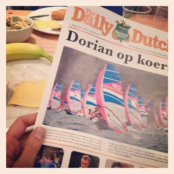 Lunch met @dorsports in het #hhh2012