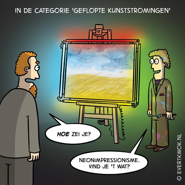 In de categorie #gefloptekunststromingen #cartoon