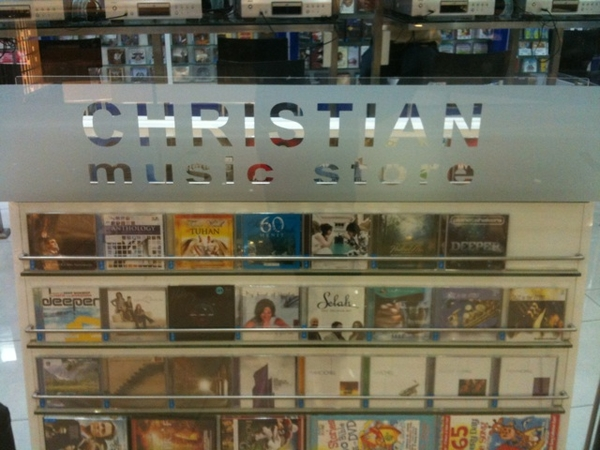 Christian music shop in