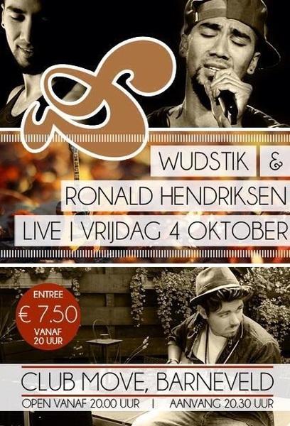Aanstaande vrijdag 4 okt @Wudstik live, klein en gezellig in Club Move Barneveld. @RTL_TVOH