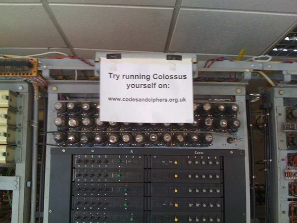 Colossus again #bpark. Take upthe challenge on the sign
