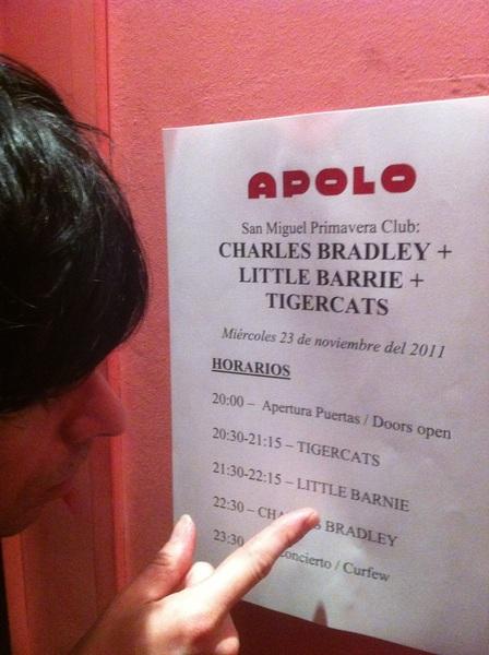 Little Barnie had a smash of a gig tonight in Barcelona! LB X