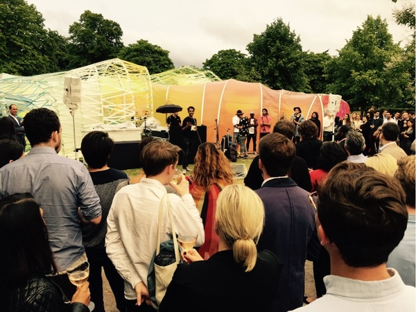.@rohan__silva speaking at the @SECONDHOMELDN Summer Party at the Serpentine Gallery