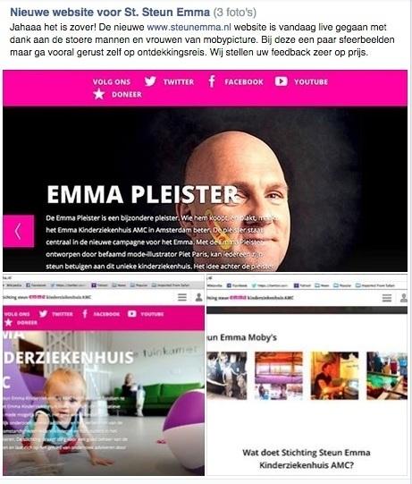 Erg fijne, vernieuwde Steun Emma @AMC_Amsterdam website met heel veel dank aan @mathys, @bhelsloot en team @mobypicture