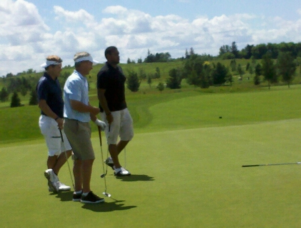 Boom goes Byfuglien for the birdie! Supposedly at 14 under #team25com