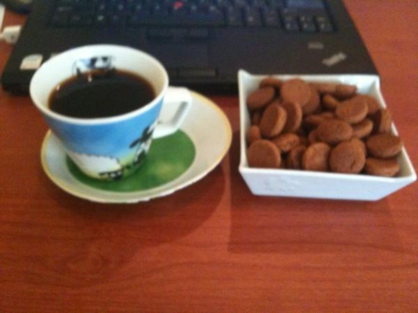 Koffie met pepernoten