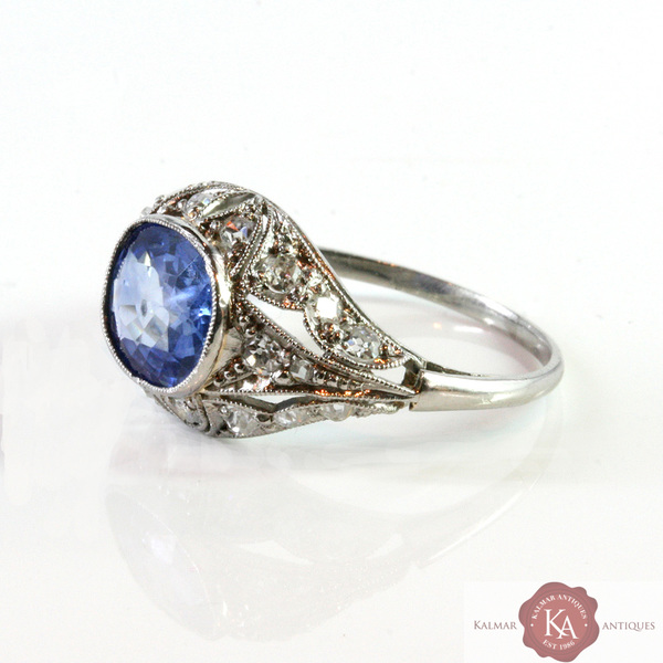 Art Deco Engagement Ring from Kalmar Antiques