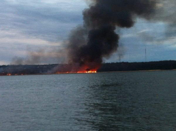 Another photo of the #ygk #marshfire  this will intensify significantly in the next hour.