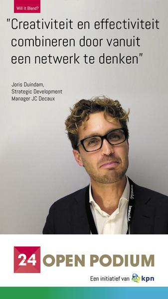 Joris Duindam was spreker op het #24festival #kpn #willitblend @24openpodium  http://bit.ly/1vKMXkg