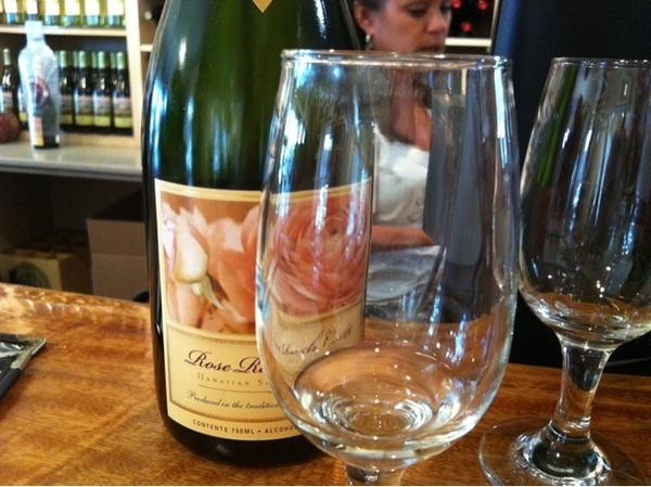 Rose ranch cuvee at tedeschi winery on Maui Country Farms Tour