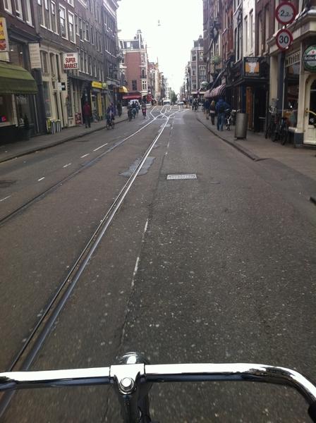Just like that I'm riding my bike again in Amsterdam. Goodbye NY.