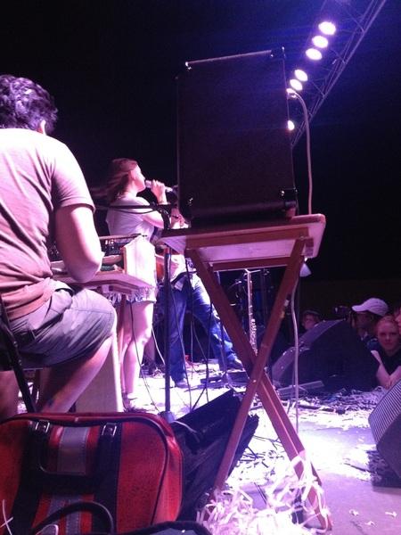 Tweeting about Deer People again .. Norman Music Festival!!