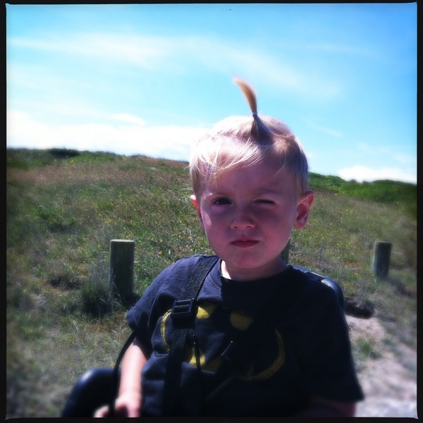 Fletcher of the day: Bike ride and pointy hair