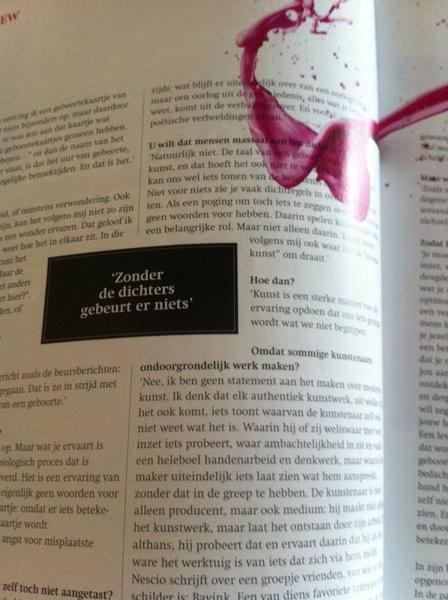 """""""Zonder dichters gebeurt er niets"""" Marc van Dijk interviewt @PaulvanTongeren in Filosofie magazine..."""