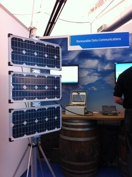 Solar + Wireless = Renewable Data Communications