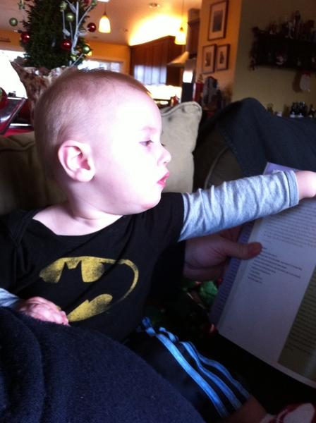 Fletcher of the day: batman likes books.