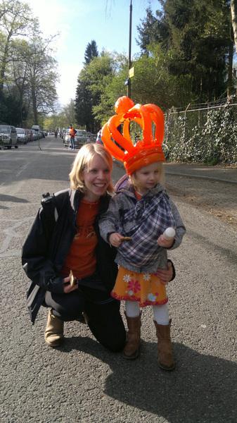 Mijn dames op de #oranjemarkt