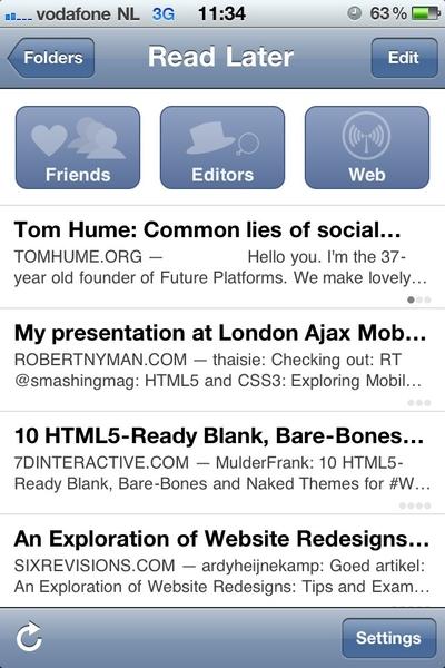@Zee instapaper app screenshot, also on the iPad btw