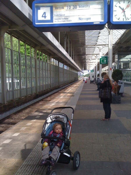 First time in the train.