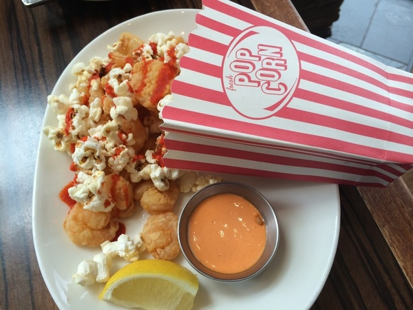 At Legal Seafood in Atlanta, the popcorn shrimp is served with actual popcorn… # bydhttmwfi