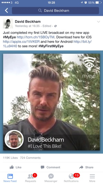 Nothing like David Beckham post the article you wrote about his app to 77m Facebook subscribers
