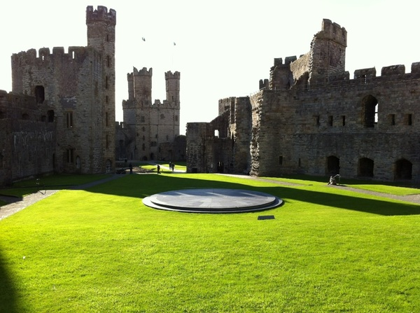 Caernarfon Castle in the sunshine