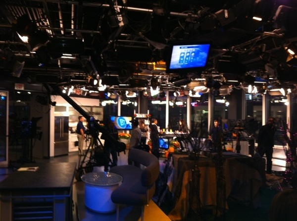 Behind the scenes at Breakfast Television this morning for a client's segment. Thank goodness for the Tassimo machine!
