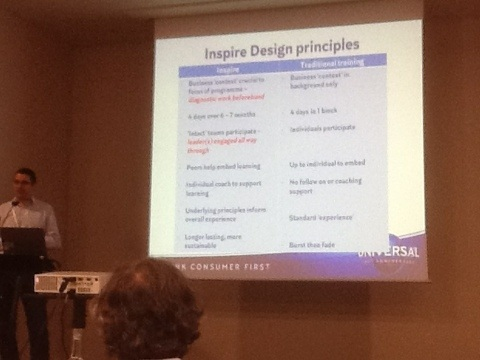 Universal' learning design principles: focus on business context, intact teams, peer embedding, coaching #eclf13