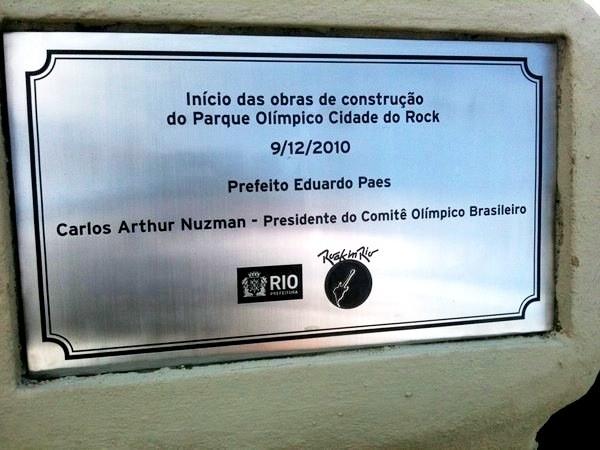 #RIR2011 Começa no Rio de Janeiro as obras do Parque Olímpico Cidade do Rock, local do Rock In Rio 2011:
