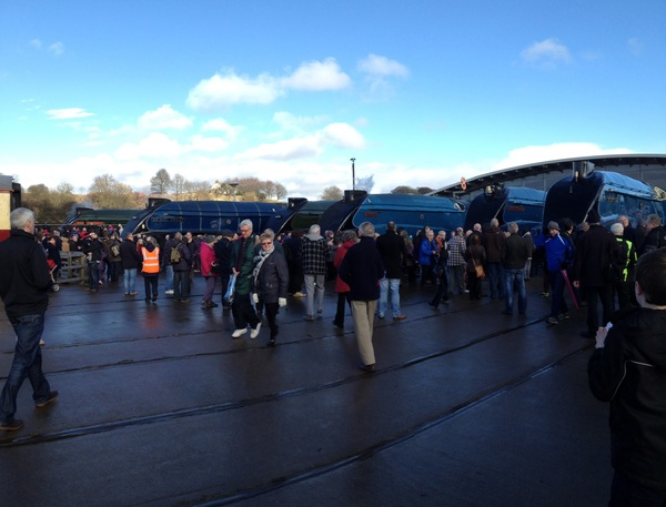 At the Great Goodbye in the north east. Thinking of my dad who was going to be here too #mallard75