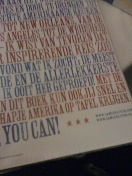 """Kan dat eigenlijk: """"...in dit boek kun ook jij snel en makkelijk een hapje Amerika op tafel krijgen. """" #kunookjij"""
